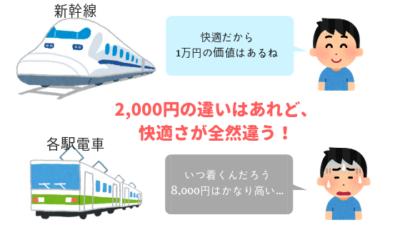 新幹線と各駅電車 どっちが快適