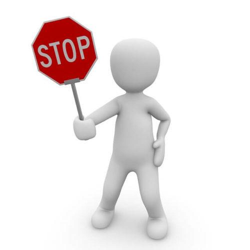 光ネットの契約を止めるストップの標識