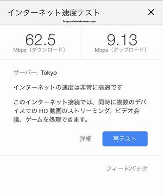 WiMAXハイスピードプラスの通信速度